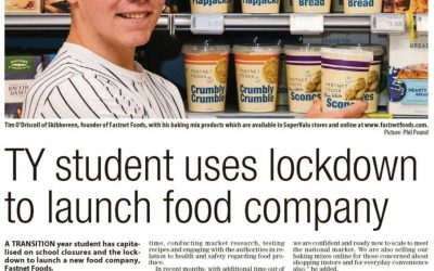 TY student uses lockdown to launch food company